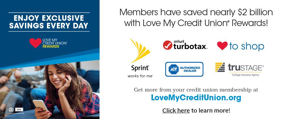 Love my Credit Union web banner